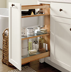 bathroom cabinet storage